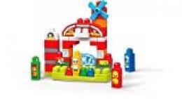 Mega Bloks Granja Musical, juguete de construcción para bebé +1 año (Mattel GCT50)