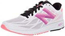 New Balance W1400V6, Zapatillas de Running para Mujer, Blanco (White/Purple White/Purple), 37 EU