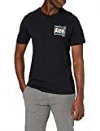 Lee Camo Package tee Camiseta, Negro (Black 01), XL para Hombre