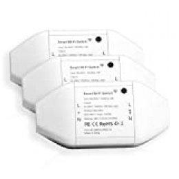 Interruptor Universal Inteligente con Wi-Fi con Control Remoto Meross App. Compatible con Alexa, Google Assistant y SmartThings. Modelo MSS710, Paquete de 3