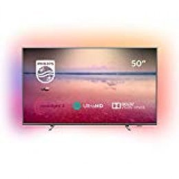 "Philips 6700 Series 50PUS6754 127 cm (50"") 4K Ultra HD Smart TV WiFi Plata - Televisor (127 cm (50""), 3840 x 2160 Pixeles, LED, Smart TV, WiFi, Plata)"