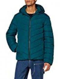 New Look Aw19 Op Entry Puffer s51 Abrigo, Verde (Teal 47), Small (Talla del Fabricante: 51) para Hombre
