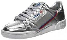 adidas Continental 80, Zapatillas de Gimnasio para Hombre, Silver Metallic Silver Metallic Crystal White, 44 2/3 EU