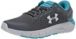 Under Armour UA Charged Rogue 2, Zapatillas para Correr, Calzado cómodo para Hombre, Gris (Pitch Gray/Halo Gray/Halo Gray), 40.5 EU