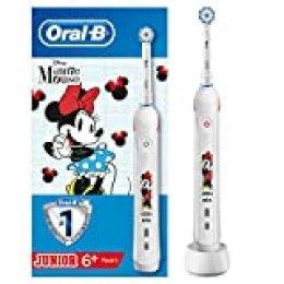 Oral-B Junior - Cepillo Eléctrico Recargable con Tecnología de Braun, 1 Mango de Minnie 1 Cabezal, Apto para Niños Mayores de 6 Años