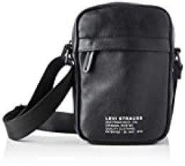 LEVIS  Mini Crossbody Vegan No Horse Pull -  Bolso de hombro para Hombre, Negro, 15 x 6 x 22 cm