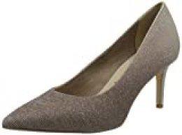 Tamaris 1-1-22481-24, Zapatos de tacón con Punta Cerrada para Mujer, Gris Peat Glam Comb 922, 35 EU