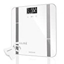 Cecotec Surface Precision 9400 Full Healthy Báscula Baño Digital de alta precisión.Plataforma de cristal templado de seguridad,pantalla LCD invertida y capacidad máxima de 180kgr.Con cinta métrica