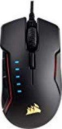 Corsair Glaive Gaming RGB, Ratón para Juegos, USB, Tamaño Único, Aluminio