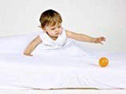 Sábana de seguridad para bebés, cama 90x190 cm. Blanca.