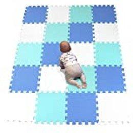 YIMINYUER Cómodas alfombras para niños Juego para niños Ejercicio para colchonetas Muebles para Jugar Juego Modernización de EVA Blanco Azul Verde R01R07R08G301020