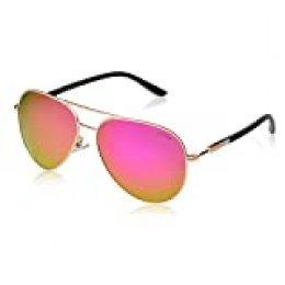 Gafas de sol para hombre polarizadas para mujer - UV 400 Protección 60MM por LUENX Rojo rosso L