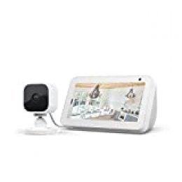 Echo Show 5, Blanco + Blink Mini Cámara, compatible con Alexa