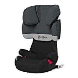 Cybex - Silla de coche grupo 2/3 Solution X-Fix, para coches con ISOFIX, 15-36kg, desde los 3 hasta los 12 años aprox., Gris (Gray Rabbit)