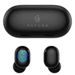 Auriculares Bluetooth 5.0, Haylou GT1 Touch Control Sport Auriculares estéreo estéreo inalámbricos HD con conexión rápida / IPX5 a prueba de agua / Total 12H Playtime / Estuche mini (solo 30g)