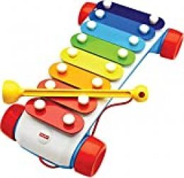 Mattel Fisher-Price-Xilófono de Arrastre, Juguete Musical de Gateo bebés +1 año, Multicolor CMY09