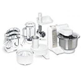 Bosch MUM4880 Robot de cocina con accesorios, 600 W, capacidad de 3.9 litros, color blanco y acero