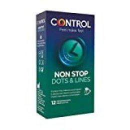 Control Preservativos Non Stop Dots & Lines 12 Uds 12 Unidades 50 g