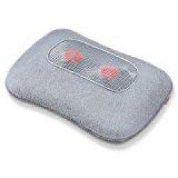 Beurer MG 145 - Almohada de masaje Shiatsu, extra suave y confortable, funda lavable, plateado