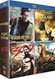 Coffret Guerriers de légende : Le Roi Arthur + Troie + 300 + Le Choc des Titans [Italia] [Blu-ray]