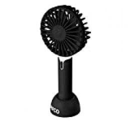Pifco Mini ventilador de mano, cargador USB, 3 ajustes de velocidad Ventilador de mano negro