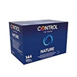 Control Nature Preservativos - Caja de condones con 144 unidades (pack grande ahorro) - Gama placer natural, lubricados, perfecta adaptabilidad.