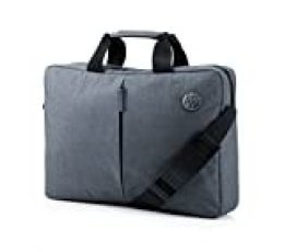 "HP Essential Top Load 15.6"" - Funda bandolera para portátil de hasta 39,6 cm, color gris"