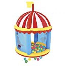 Bestway 52195 - Piscina de Bolas Hinchable Circo 137x96x96 cm 100 Bolas Colores