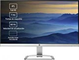 HP 24ea – Monitor para PC Desktop  de 24'' (FHD, 1920 x 1080 a 60 Hz, IPS con retroiluminación LED), Blanco