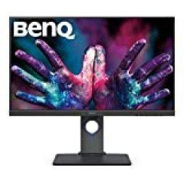 """BenQ PD2700U - Monitor Profesional para diseñadores de 27"""" 4K UHD (3840x2160, 16:9, IPS, 100%Rec.709, SRGB, CAD/CAM, HDMI, DP, miniDP, DP Out, USB 3.1 x4, Altura ajustable, antireflejo) gris"""