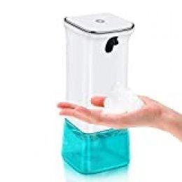 AETKFO Dispensador de Jabón Automático, Dosificador Cocina Dispensador de Jabón de Espuma Sensor Sin Contacto Dosificador Jabon para Baño, Cocina, Oficina, Hotel, 280ml