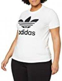 adidas Trefoil tee T-Shirt, Mujer, White/Black, 42