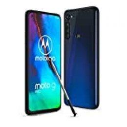 """Motorola Moto G Pro (Pantalla de 6,4"""" FHD+ o-Notch, procesador Qualcomm Snapdragon SD665, lápiz táctil, cámara Principal de 48MP, batería de 4000 mAH, Dual SIM, 4/128GB, Android 10), Azul Indigo"""