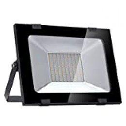 Ankishi Focos Led Exterior 100W, LED Floodlight 10000LM 3200K(Blanco Cálido),LED Focos Iluminación de, Iluminación de Exterior para Patios, Caminos, Escaleras, Jardines, Fábricas.