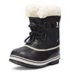 Sorel Childrens Yoot Pac Nylon, Botas de Invierno Unisex Niños, Negro (Black 010), 28 EU