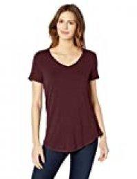 Amazon Essentials - Camisa de manga corta con cuello en V para mujer