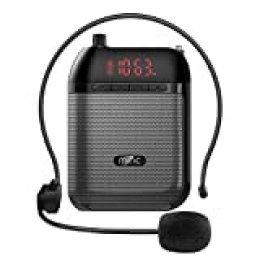 miric ultraligera Amplificador de voz Afinador Caja de altavoces amplificador amplificador Práctico y práctico megaphonen con de micrófono auricular para discursos
