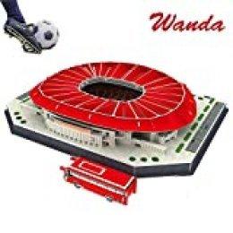 Puzzle 3D Estadio Rompecabezas Diy 3d Juego Puzzle Fútbol Juguetes Wanda-Metropolitano 3D Puzzle,JTIH® Multi Coloured
