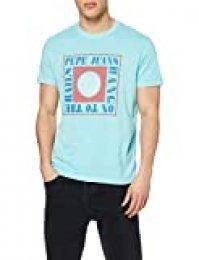 Pepe Jeans Morris Camiseta, Azul (Dark Acqua 518), X-Small para Hombre
