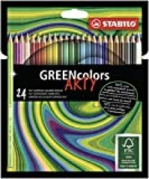 Lápices de color ecológicos STABILO Greencolors ARTY - Estuche con 24 colores