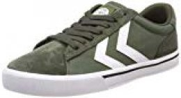 hummel Nile Canvas Low, Zapatillas Unisex Adulto, Verde (Olive Night 6453), 37 EU