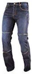 A-pro Motor Bike Denim Jeans Pants kèvlar Lined-Pantalones Moto CE brazo Ours Blue 30