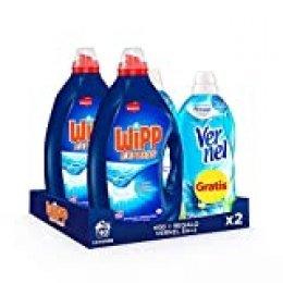 Wipp Express Gel Azul 40 Dosis + Vernel Suavizante Cielo Azul 57 Dosis (Gratis!) - Pack de 2