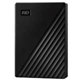 WD 4 TB My Passport disco duro portátil con protección con contraseña y software de copia de seguridad automática, Compatible con PC, Xbox y PS4, color Negro