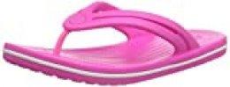 Crocs Crocband Flip Women, Chanclas para Mujer, Rosa (Electric Pink 6qq), 34/35 EU