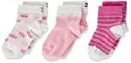 Tommy Hilfiger Th Sock 3p Giftbox Baby Calcetines, Rosa (Pink Combo 024), 15-18 (Talla del fabricante: 15/18) (Pack de 3) para Bebés