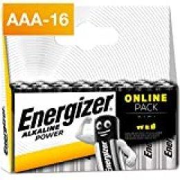 Energizer Alkaline Power AAA, 16 Pack de Pilas