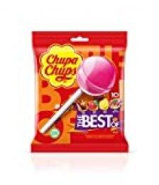 Chupa Chups Original, Caramelo con Palo de Sabores Variados, Bolsa de 10 unidades de 12 gr. (Total 120 gr.)