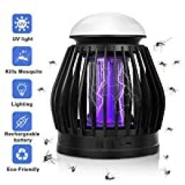 TDW Lámpara Antimosquitos, Exterior Camping Repelente de Mosquitos Electrico, Interior Familia Portátil 3 en 1 Noche Lámpara LED 8 Colores Convertible Mata Mosquitos