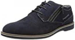 Bugatti 311647071400, Zapatos de Cordones Derby para Hombre, Azul (Blue 4000), 42 EU